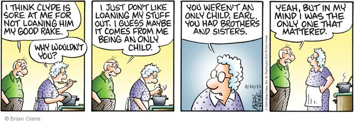 Comic Strip Brian Crane  Pickles 2013-08-16 him