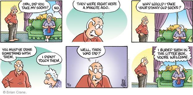 Cartoonist Brian Crane  Pickles 2013-08-18 smell