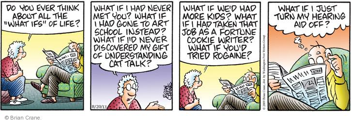 Cartoonist Brian Crane  Pickles 2013-08-20 fortune cookie