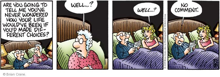 Comic Strip Brian Crane  Pickles 2013-08-22 married couple
