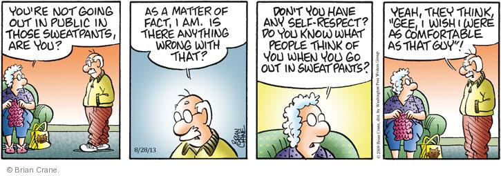Comic Strip Brian Crane  Pickles 2013-08-28 comfortable clothes