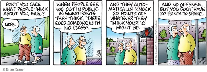 Comic Strip Brian Crane  Pickles 2013-08-29 casual attire