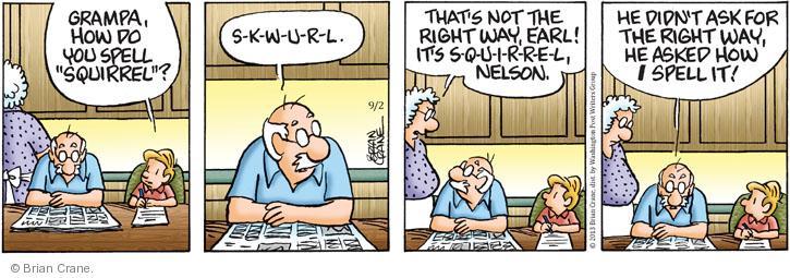 Comic Strip Brian Crane  Pickles 2013-09-02 tease