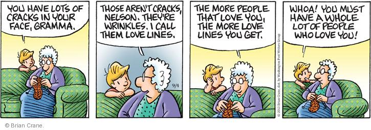 Comic Strip Brian Crane  Pickles 2013-09-04 face wrinkle