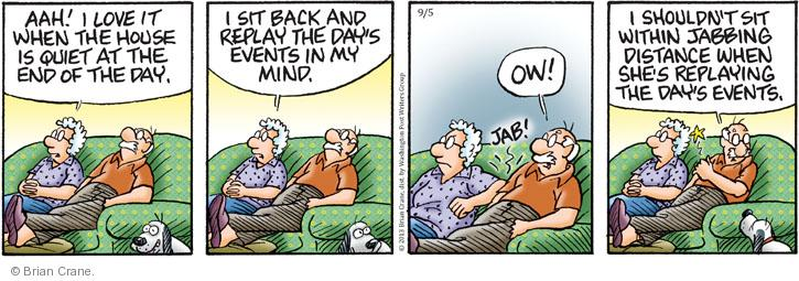 Comic Strip Brian Crane  Pickles 2013-09-05 distance