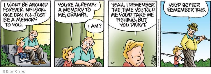 Comic Strip Brian Crane  Pickles 2013-09-07 forever
