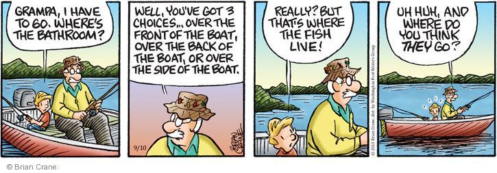 Comic Strip Brian Crane  Pickles 2013-09-10 fish
