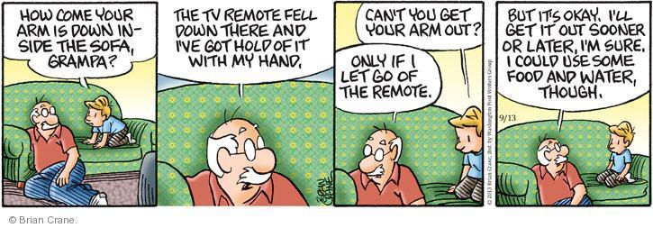 Comic Strip Brian Crane  Pickles 2013-09-13 sooner or later