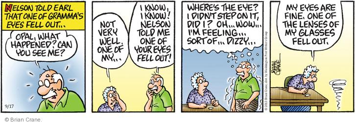 Comic Strip Brian Crane  Pickles 2013-09-17 dizziness