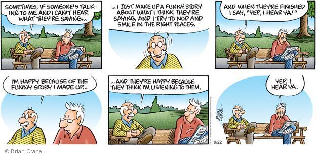 Comic Strip Brian Crane  Pickles 2013-09-22 hear