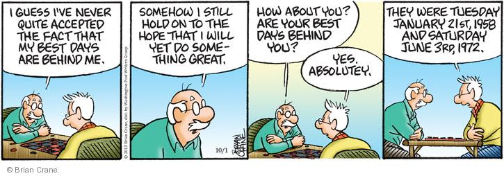 Comic Strip Brian Crane  Pickles 2013-10-01 21st