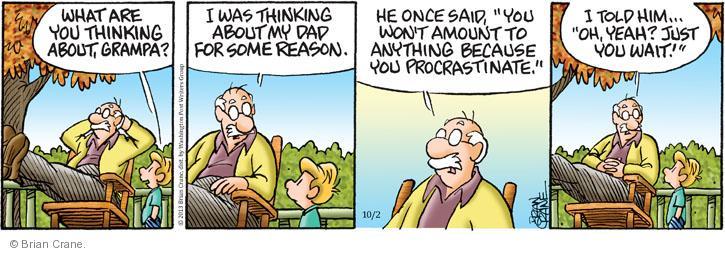 Comic Strip Brian Crane  Pickles 2013-10-02 advice