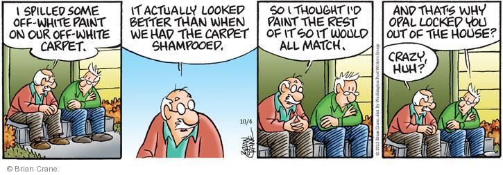Comic Strip Brian Crane  Pickles 2013-10-04 spill