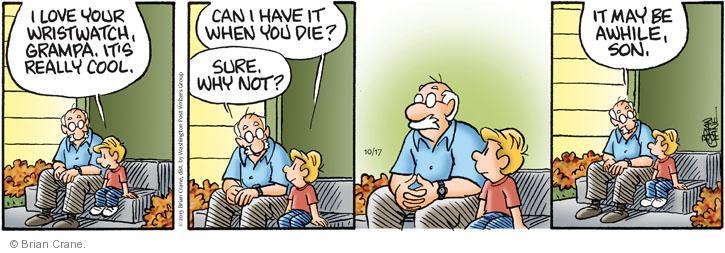 Comic Strip Brian Crane  Pickles 2013-10-17 relative