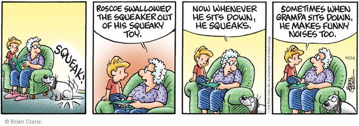 Comic Strip Brian Crane  Pickles 2013-10-24 aging body