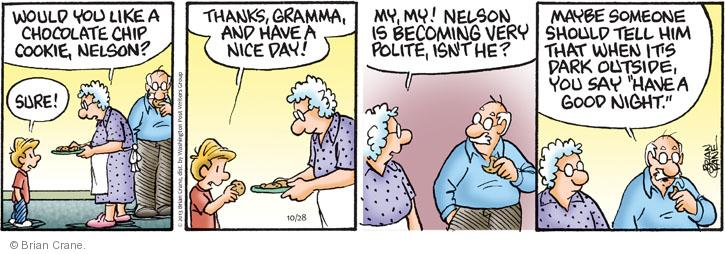 Comic Strip Brian Crane  Pickles 2013-10-28 good day
