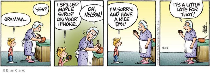 Comic Strip Brian Crane  Pickles 2013-10-29 etiquette