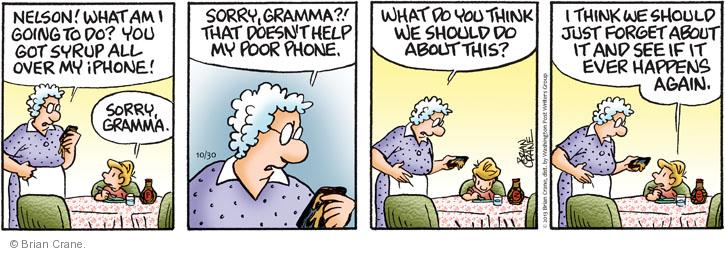 Comic Strip Brian Crane  Pickles 2013-10-30 etiquette