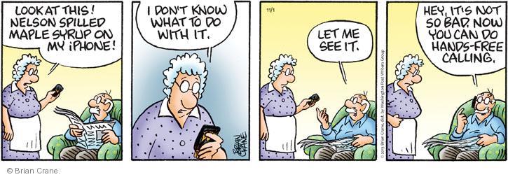 Comic Strip Brian Crane  Pickles 2013-11-01 bad