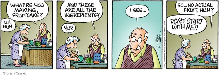 Comic Strip Brian Crane  Pickles 2013-11-08 fruit