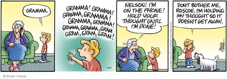 Comic Strip Brian Crane  Pickles 2013-11-12 interruption