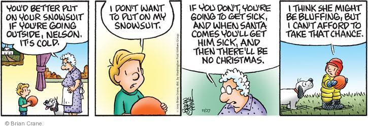 Comic Strip Brian Crane  Pickles 2013-11-27 winter