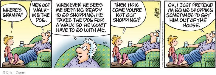 Comic Strip Brian Crane  Pickles 2013-12-02 pretend