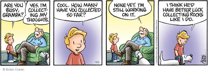 Comic Strip Brian Crane  Pickles 2013-12-03 busy