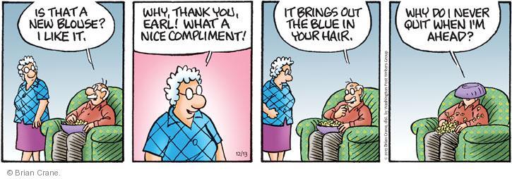 Comic Strip Brian Crane  Pickles 2013-12-13 when I was your age