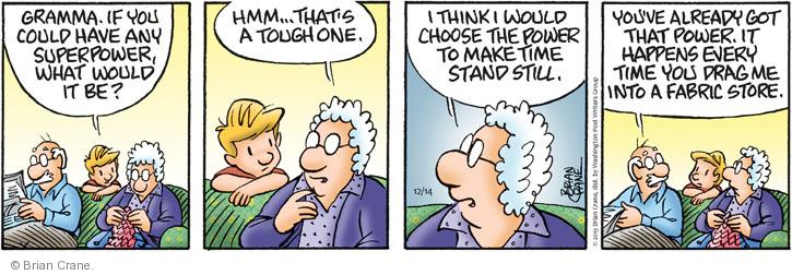 Comic Strip Brian Crane  Pickles 2013-12-14 husband and wife