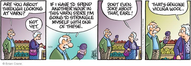Comic Strip Brian Crane  Pickles 2013-12-21 going