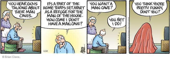 Comic Strip Brian Crane  Pickles 2013-12-28 guy
