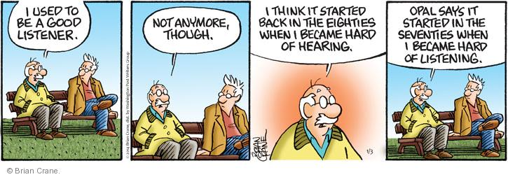 Comic Strip Brian Crane  Pickles 2014-01-03 disinterested
