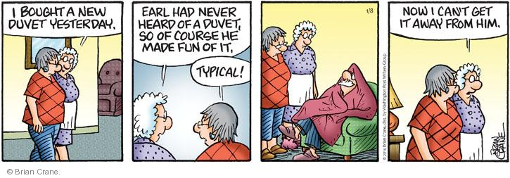 Comic Strip Brian Crane  Pickles 2014-01-08 covering
