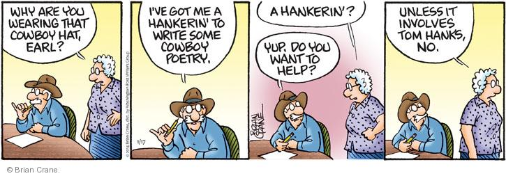 Comic Strip Brian Crane  Pickles 2014-01-17 cowboy