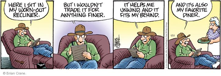 Comic Strip Brian Crane  Pickles 2014-01-22 recliner