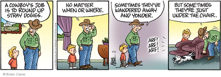 Comic Strip Brian Crane  Pickles 2014-01-23 writer