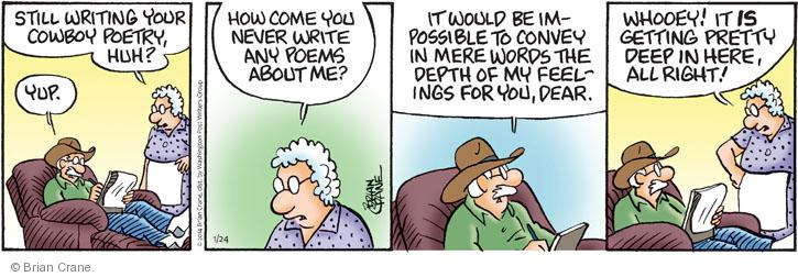 Comic Strip Brian Crane  Pickles 2014-01-24 poet