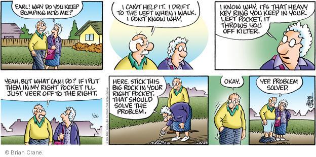 Comic Strip Brian Crane  Pickles 2014-01-26 solve