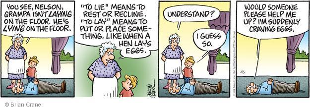 Comic Strip Brian Crane  Pickles 2014-02-05 language