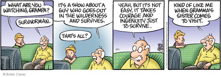 Comic Strip Brian Crane  Pickles 2014-02-11 reality
