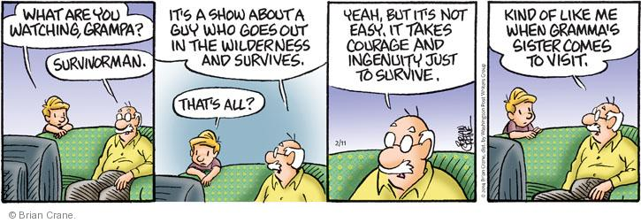 Comic Strip Brian Crane  Pickles 2014-02-11 reality television