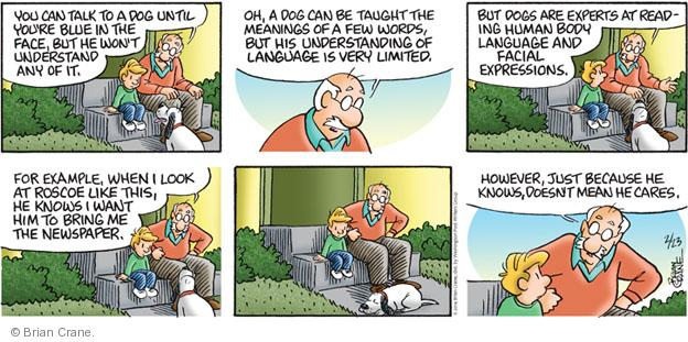 Comic Strip Brian Crane  Pickles 2014-02-23 dog training