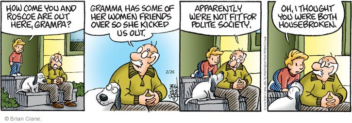 Comic Strip Brian Crane  Pickles 2014-02-26 dog training