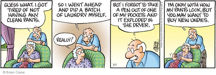 Comic Strip Brian Crane  Pickles 2014-03-07 underwear