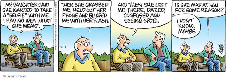 Comic Strip Brian Crane  Pickles 2014-03-14 daughter