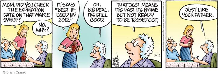 Comic Strip Brian Crane  Pickles 2014-03-15 insult