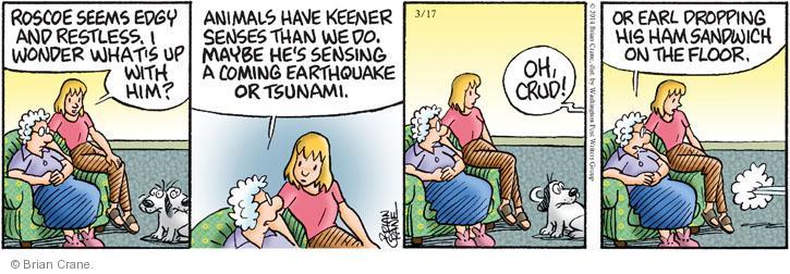 Comic Strip Brian Crane  Pickles 2014-03-17 awareness