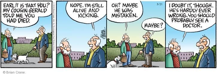 Comic Strip Brian Crane  Pickles 2014-03-21 alive