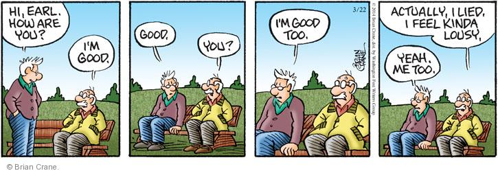 Comic Strip Brian Crane  Pickles 2014-03-22 good feeling